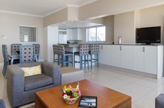 super luxury suite kitchen and lounge